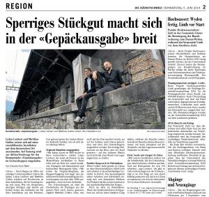 Die Südostschweiz, Glarus, 5.6.2014